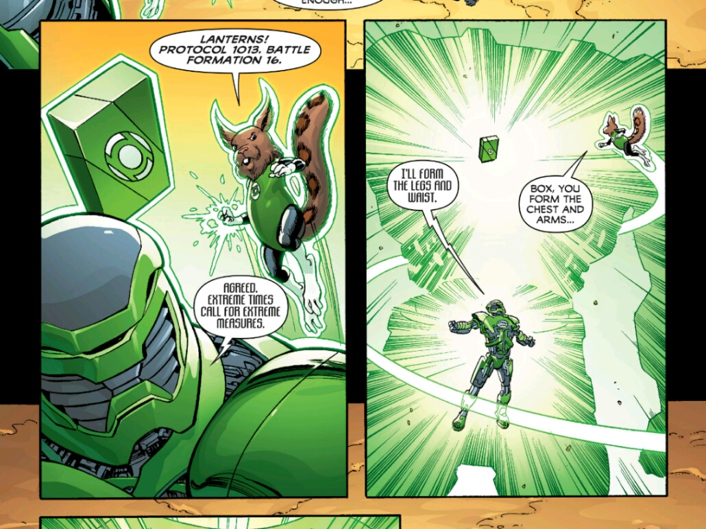 a page from: Infinity Man and the Forever Peopleno.6